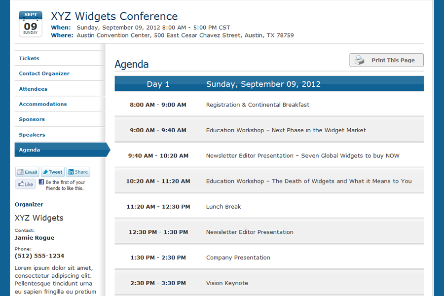 Custom Event Website Whindo Event Registration Software