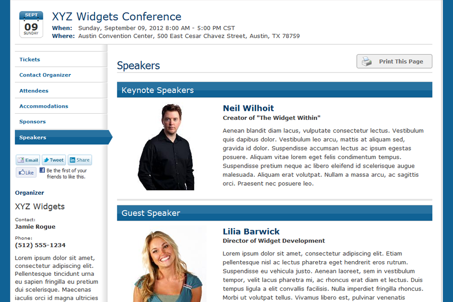 Custom Event Website | Whindo Event Registration Software