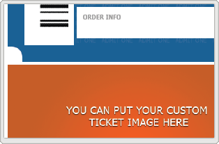 You can add a custom image to each of your printed PDF tickets. This is a perfect opportunity to provide a coupon for upcoming events (using discount codes), market a product or service, or continue to reinforce your brand.